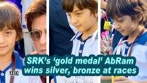 SRK's 'gold medal' AbRam wins silver, bronze at races