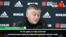 Rashford a doubt for Liverpool - Solskjaer