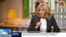 """Brigitte Macron est revenue sur la petite phrase du Président : """"traverser la rue pour trouver un emploi"""""""
