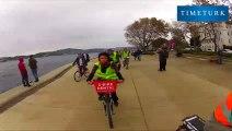 İstanbul Boğazı bisiklet turları turistlerin ilgisini çekiyor.