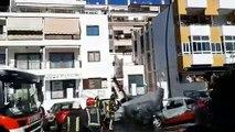Incendio de tres vehículos en Los Cristianos