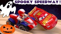 Disney Pixar Cars 3 Lightning McQueen in Spooky Speedway with Hot Wheels and Paw Patrol and Funny Funlings Race Full Episode English, A Spooky Challenge