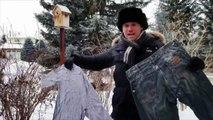 Il fait si froid au Canada que l'on peut faire du frisbee avec ses vêtements