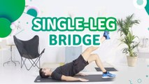 Single-leg bridge - Fit People