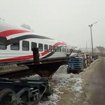 اختبار مسير للعربتين النموذجتين في المجر ضمن صفقة الـ1300 عربة قطار