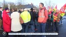 Le journal - 17/01/2020 - RETRAITES En visite à Tours le secrétaire d'Etat évite les grévistes