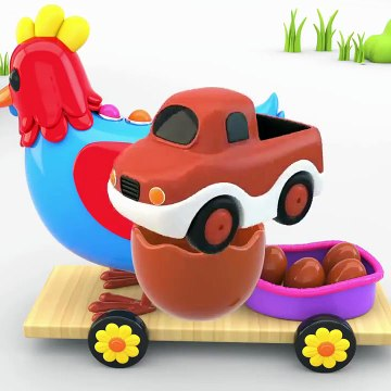 Learn Colors With Surprise Eggs And Toy Vehicles Toy Cars For Kids