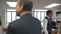 Visita de Pablo Iglesias a los trabajadores de su inaugurado ministerio