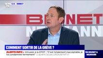 """Laurent Escure (UNSA): """"Le rapport de force le plus efficace c'est celui de l'opinion publique"""""""