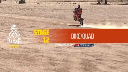 Dakar 2020 - Stage 12 (Haradh / Qiddiya) - Bike/Quad Summary