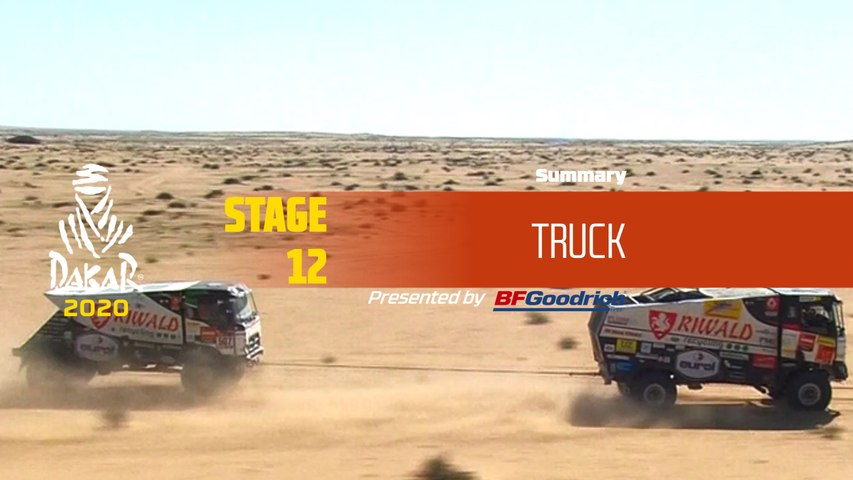 Dakar 2020 - Stage 12 (Haradh / Qiddiya) - Truck Summary