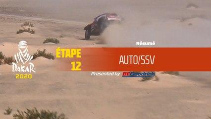 Dakar 2020 - Étape 12 (Haradh / Qiddiya) - Résumé Auto/SSV