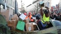 Liège : manifestation contre la venue d'Ali Baba place St Lambert