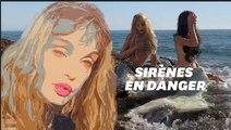 Ariel Dombasle en sirène pour vous faire ramasser le plastique usagé