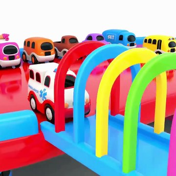Learn Colors With Ten Little Toy Buses Play On Toy Slider Love To Play Colors Cars For Kids-