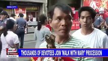 Thousands of devotees join 'Walk with Mary' procession