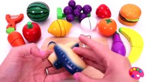 Learn Names of Fruit and Vegetables with Wooden Cutting Toys