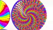 Lots of Lollipops 3D. Many candy for kids to learn Big 3D Spiral Lollipops Learning Colors for kids