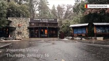 Yosemite National Park Becomes Winter Wonderland After Fresh Snow