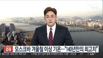 """모스크바 겨울철 이상 기온…""""영상 4.3도, 140년만의 최고치"""""""