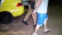 Homem é detido após ameaçar a companheira com facas no Bairro Brasília