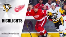 NHL Highlights | Penguins @ Red Wings 01/17/20