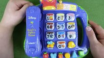 Disney Winnie the Pooh Bear Teach N Lights Phone Toy for Kids from Vtech
