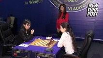 Iran chess referee won't return home after hijab uproar