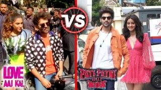 Kartik Sara's ROMANTIC Entry VS Kartik Ananya Panday's Entry   Love Aaj Kal 2