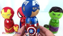 Marvel Avengers Captain America Hulk Iron Man Spiderman Match Wrong Heads Surprise Toys