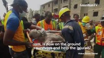 Man trapped as a building under construction collapsed in Lagos