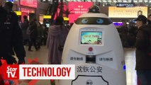 Robot helps ensure safe Spring Festival travel rush in China