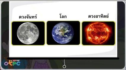 สื่อการเรียนการสอน ดวงจันทร์ ป.1 วิทยาศาสตร์