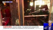 """Le restaurant """"la Rotonde"""" à Paris victime d'un incendie dans la nuit de vendredi à samedi, l'origine du sinistre n'est pas encore connue"""