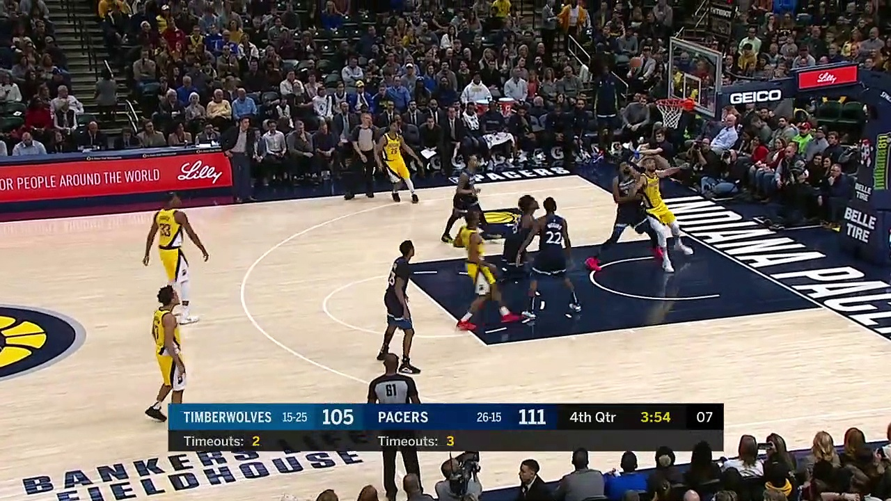 Minnesota Timberwolves 114 - 116 Indiana Pacers