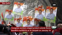 Delhi polls: Congress workers demonstrate outside Sonia Gandhi's residence against ticket distribution