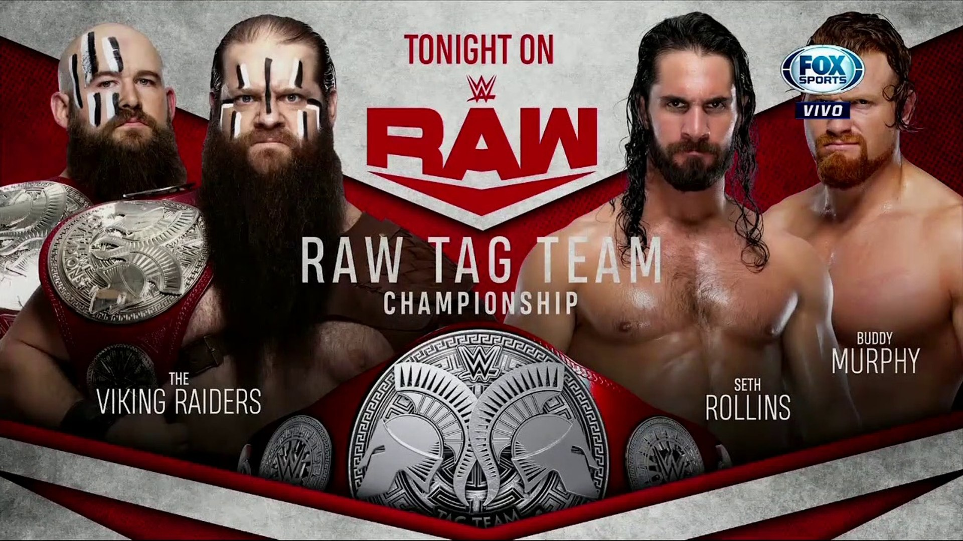 WWE Raw: The Viking Raiders vs. Seth Rollins & Buddy Murphy – Títulos en Pareja de Raw | Español