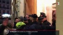 Emmanuel Macron : une soirée au théâtre perturbée