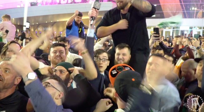 Conor McGregor Fans Celebrate His First Round KO Outside UFC 246