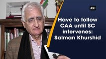 Have to follow CAA until SC intervenes: Salman Khurshid