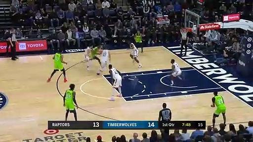 Toronto Raptors 122 - 112 Minnesota Timberwolves