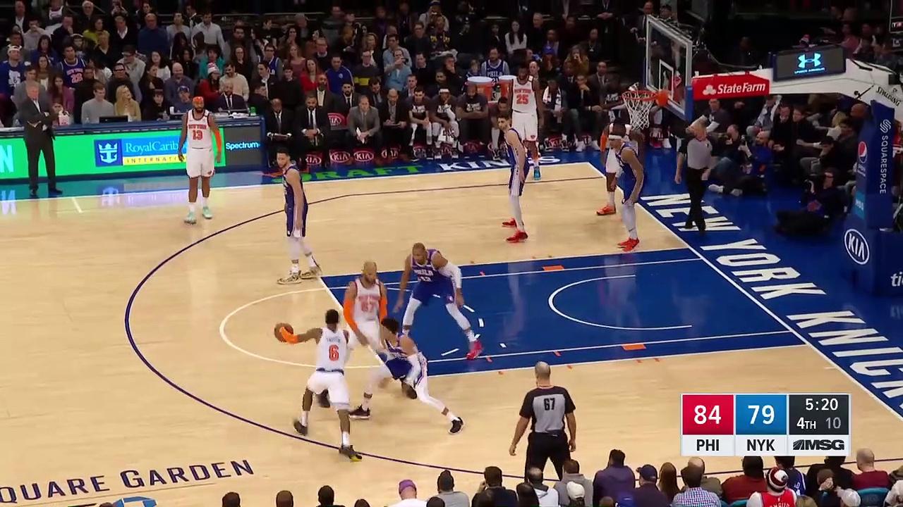 Philadelphia 76ers 90 - 87 New York Knicks