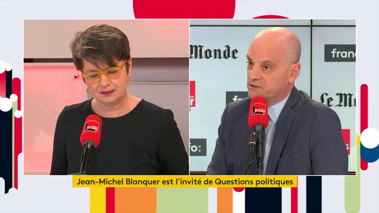 """Jean-Michel Blanquer, ministre de l'Éducation nationale : """"Il n'y a pas de climat anti-Blanquer dans l'Éducation nationale. La réforme du baccalauréat a recueilli l'adhésion, après un énorme travail d'écoute et de concertation"""""""