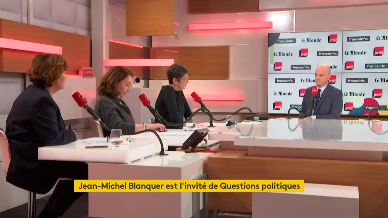 """Jean-Michel Blanquer, ministre de l'Éducation nationale : """"Consacrer des moyens à l'éducation est aussi un enjeu économique. Ce qu'on dépense comme moyens pendant les premières années de la vie, c'est autant qu'on n'aura pas à dépenser ultérieurement"""""""