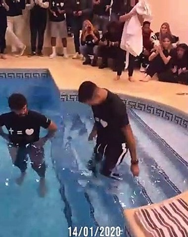 Liverpool goalie Allison Becker leads striker Firmino to Christ and had him baptized