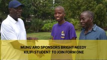 Mungaro sponsors bright needy Kilifi student to join Form One