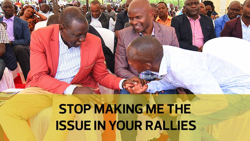 Stop making me the issue in your rallies