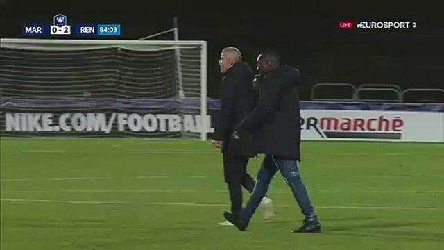 Match interrompu entre l'Athletico Marseille et Rennes