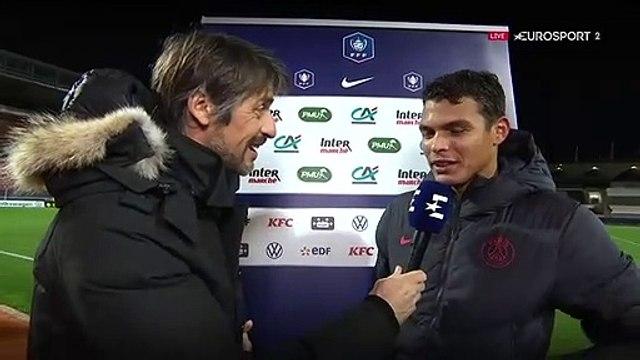"""Thiago Silva : """"on n'était pas bien techniquement, mais l'état d'esprit était là"""""""