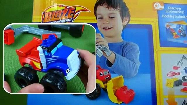 Blaze and the Monster Machines Toys Mega Bloks Blaze Crusher Mix and Match Monster Trucks Mashup Toys